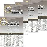 14x14x1 (13.75 x 13.75) Enviroflow Air Filter (Merv 8 ) (4 Pack)