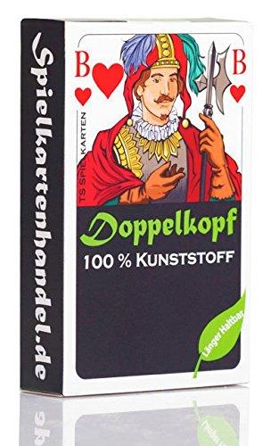 Doppelkopf Spielkarten aus 100% Kunststoff, *Premium* (Plastik +) Französisch, wasserfest (1x, Karten in Faltschachtel)