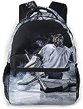 Hockey Goalie Bookbag Lightweight Laptop Bag for School College Travel Bags Backpack