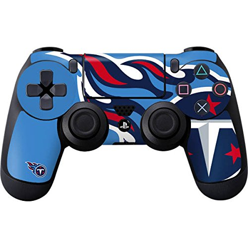 Skinit Decal Gaming Skin for PS4 Controller - Officially Licensed NFL Tennessee Titans Large Logo Design