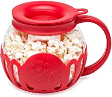 Save on Ecolution Original Microwave Micro-Pop Popcorn Popper, Borosilicate Glass, 3-in-1 Silicone Lid, Dishwasher Safe,...