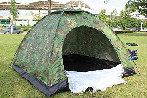 HONEYY Tente de Camping 4-Couche de Camouflage Outdoor Camping/Affichage de Vent et l'anti-Moustique 200 * 200 * 135cm Tente