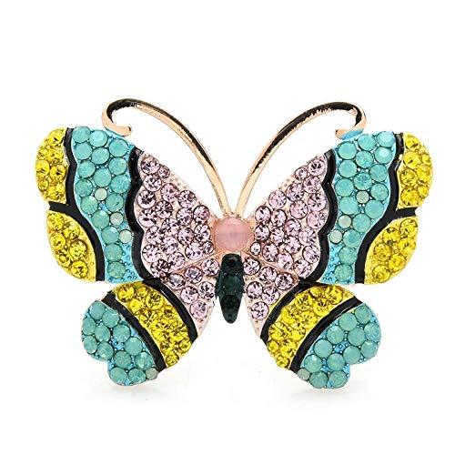 GLKHM Elegante Moda Broches Broches De Mariposa Broche De Insectos para Mujer