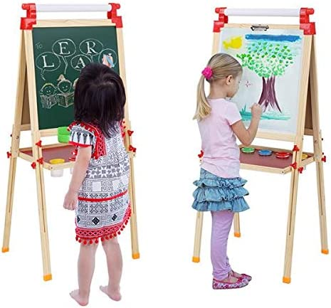 TSOGIA Kids Ranking TOP3 Wooden Easel Art Liftable with for Reservation