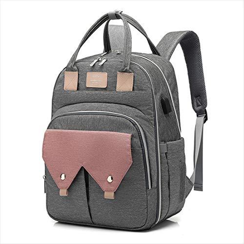BigForest sac ? main Nappy Changing Bag Sacs ? Dos ? Langer pour B?b? Sac Mummy Backpack Baby Diaper Bag Maternity Tote Handbag pink