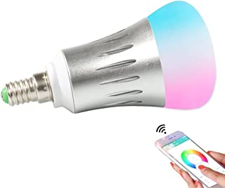 Smart WiFi Light Bulb Smart Lighting Lamp Dimmable Timer RGB Led Bulbs Color Ambiance Compatible with Alexa Remote Control by Smartphone IOS & Android Google Assistant Daylight & Nightlight 6.5W
