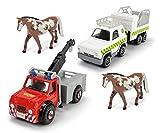 Dickie Feuerwehrmann Sam 4er Set Fahrzeug Hubschrauber Boot Quad Spielzeug: Farbe: Set 2 -