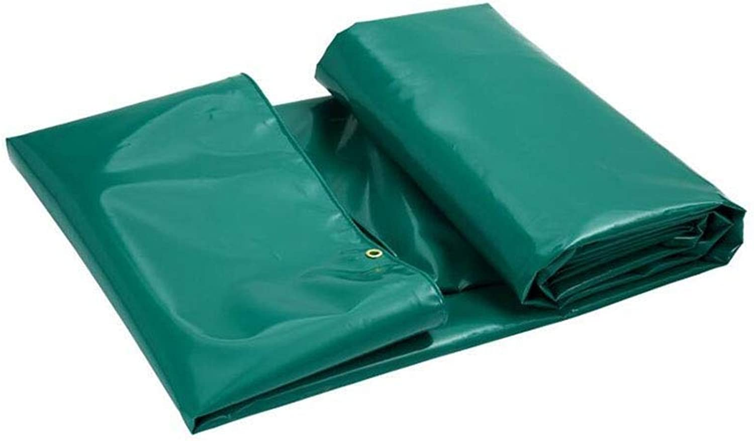 Outdoor Rainy Season Thick Double Waterproof Tarpaulin MultiFunctional Predective Tarpaulin Available in Various Size (color   Green, Size   3X3M)