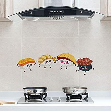 Amazon Com Wall Stickers 3pcs Wall Decal Stickers Waterproof Cartoon Anti Pollution Kitchen Oil Pet Wall Stickers Stove Decor Mural Transparent Self Adhesive High Temperature Resistance Waterproof Oil Proof A Home Kitchen