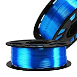 Silk Sapphire Blue PLA Satin Shiny 3D Printer Filament, 1.75mm Diameter 1kg/Spool 2.2lbs Widely Support FDM 3D Printers, with Extra One Bag Filament Sample Gift DO3D