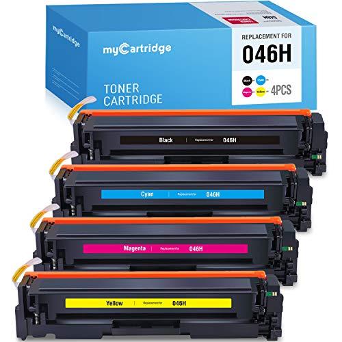 myCartridge - Cartuchos de tóner compatibles para Impresora láser Canon 046H 046 CRG 046 4 Unidades Canon Color ImageCLASS MF733Cdw MF731Cdw MF735Cdw LBP654Cdw MF733 MF731
