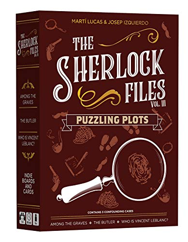 Indie Boards and Cards The Sherlock Files: Puzzling Plots, Brown
