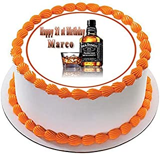 Whiskey Bottle - Edible Cake Topper - 7.5