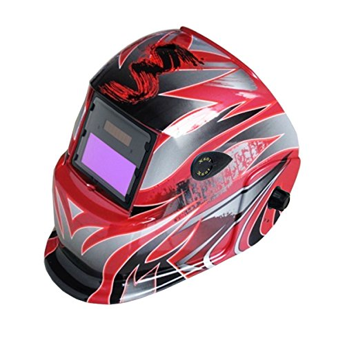 JEXONA Solar Power Auto Darkening Welding Helment 6022 Color Red Line