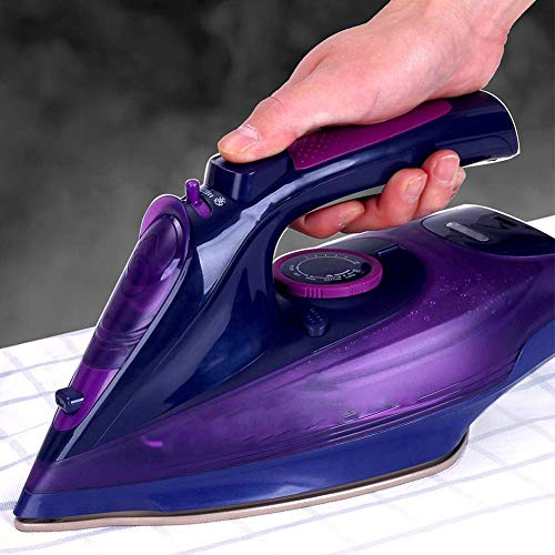 Inllex Handheld Iron Steamer 2400W Cordless Wireless Charging Portable Steam Iron 5 Speed Adjust Clothes Ironing Steamer Portable Ceramic Soleplate EU Plug Elegant Matched Clothes