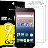 NEW'C 3 Pezzi, Vetro Temperato Compatibile con Alcatel One Touch Pop 3 (5.0'), Pellicola Prottetiva Anti Graffio, Anti-Impronte, Durezza 9H, 0,33mm Ultra Trasparente, Ultra Resistente
