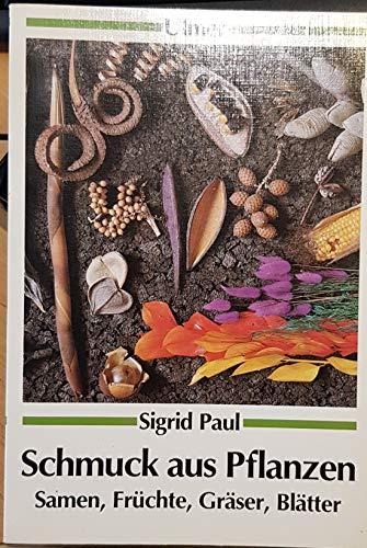 Schmuck aus Pflanzen. Samen, Früchte, Gräser, Blätter