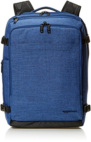 Amazon Basics - Mochila compacta de viaje, Azul, para viajes de fin de semana