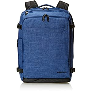 519r1lPLykL. SS300  - AmazonBasics - Mochila compacta de viaje, Azul, para viajes de fin de semana