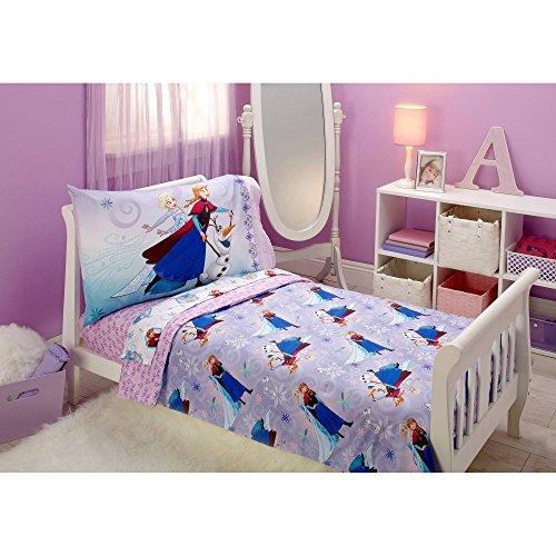 Disney Frozen Unleash The Magic 4pc Toddler Bedding Set - Elsa - Anna - Olaf