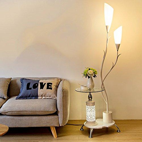 Lampe sur pied salon table basse simple chambre moderne protection des yeux lampe de bureau verticale étude créative lumières de piano (Couleur : Blanc)