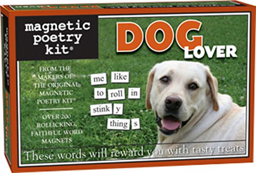 Magnetic Poetry - Dog Lover Kit - Words for Refrigerator - Write Poems and Letters on the Fridge - Made in the USA