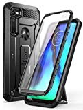 SUPCASE Unicorn Beetle Pro Series Case Designed for Moto G Stylus 2020 [Not Fit Moto G Stylus 2021], Built-in Screen Protector Full-Body Rugged Holster & Kickstand Case (Black)