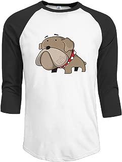 J-OOP Bulldog Big Head Cartoon Logo Men's Half Sleeve T-shirts
