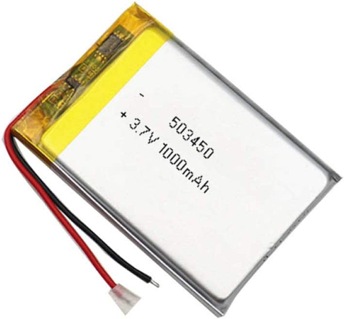 ZZBAT 3.7V 1000mAh 503450 053450 Lithium Rechargeable Polymer Max 89% OFF Ba Financial sales sale