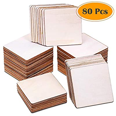 Selizo 4 Inch Unfinished Blank Wood Pieces
