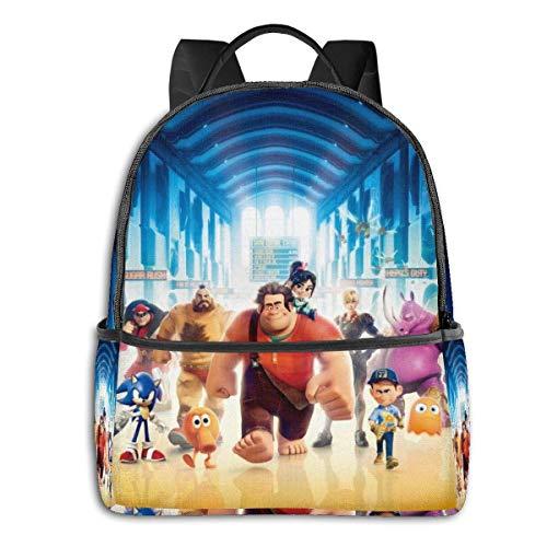 Wreck It Ralph Backpack Unisexs Student Bag Classic Lightweight Zipper Backpacks