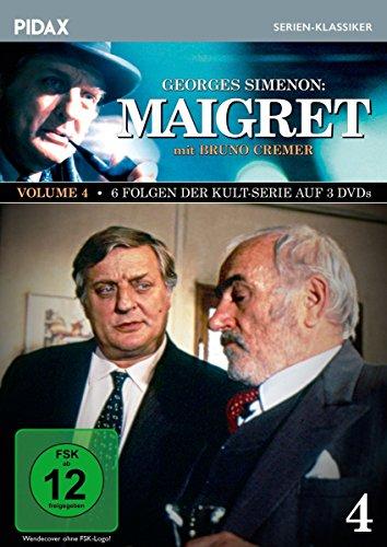 Maigret, Vol. 4 / Weitere 6 Folgen der Kult-Serie mit Bruno Cremer nach den Romanen von Georges Simenon (Pidax Serien-Klassiker) [3 DVDs]
