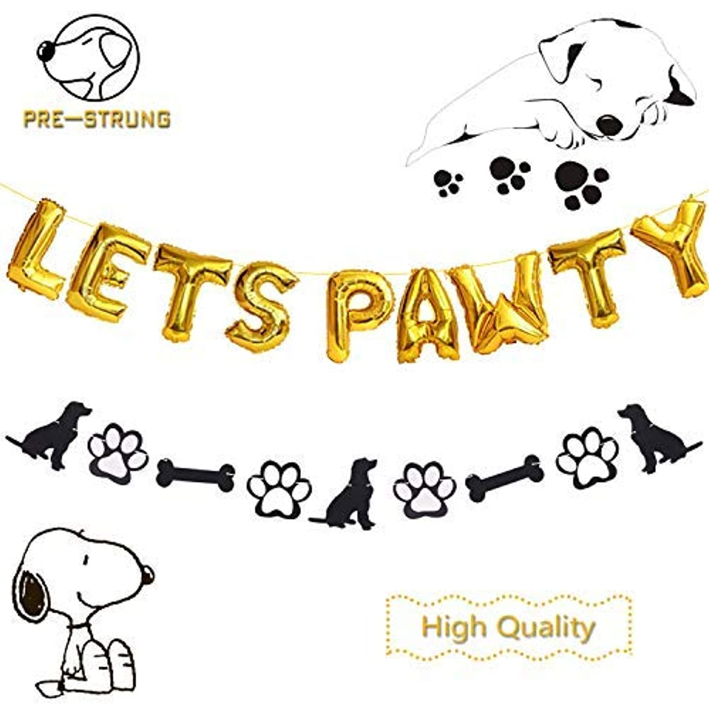 Dog Party Decorations Bones Paw Banner rjj2080163