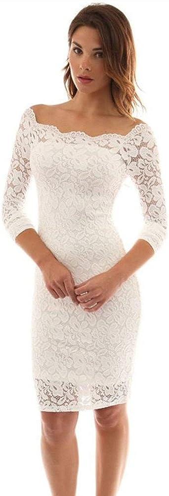 Max 67% OFF Mamilove Women's Long Sleeve Off Cocktail Bodycon Dress Choice Lace Par