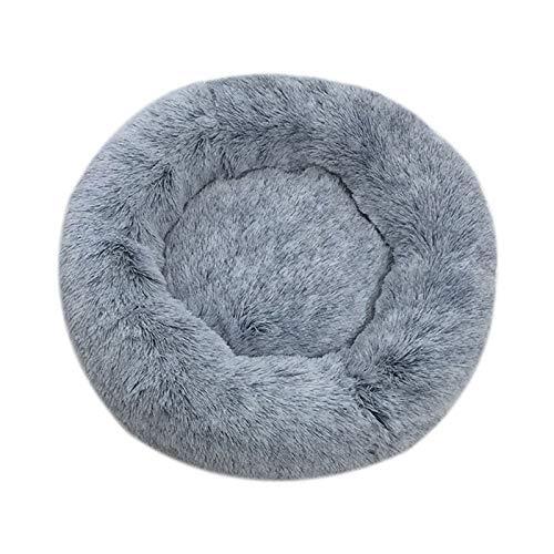 huangThroStore Cama calmante para Perros y Gatos, Cama de Felpa para Cachorros y Perros, Dark Gray, 70 cm