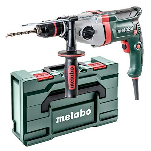 metabo 600782500 600782500-Taladro percutor SBE 850-2 (portabrocas Futuro Plus) 850W con maletín, 490 W, 240 V, Verde
