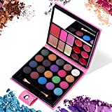 All in One Makeup Kit - 20 Eyeshadow, 6 Lip Glosses, 3 Blushers, 2 Powder, 1 Concealer, 1 Mirror, 1 Brush, Make Up Gift Set for Teen Girls, Beginners And Pros,blush makeup palette