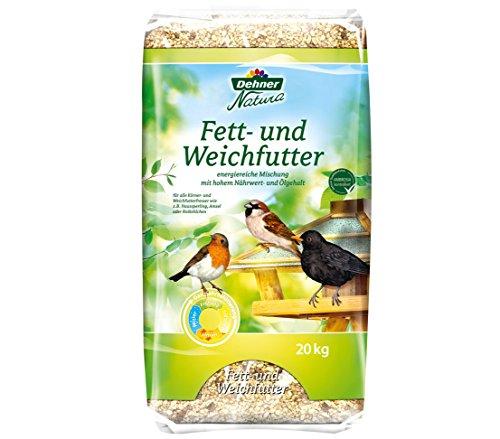Dehner Natura Wildvogelfutter, Fett- und Weichfutter, 20 kg