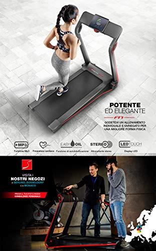 Sportstech F17 Tapis Roulant - Marchio di qualità Tedesca - Video Live e App multiutente, Facile da riporre, Senza Montaggio, 2.5CV 12 KM/H, Lubrificazione, Cardiofrequenzimetro