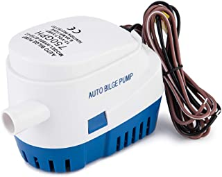 Onechoices Automatic Submersible Boat Bilge Pump 12v 750gph Auto with Float Switch,Small Bilge Pumps for Boats (750GPH Blue)