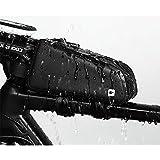 Rhinowalk 自転車 トップチューブバッグ フレームバッグ サドルバッグ フロントバッグ サ イドバッグ かんたん装着 防水 サイクリング用 ブラック