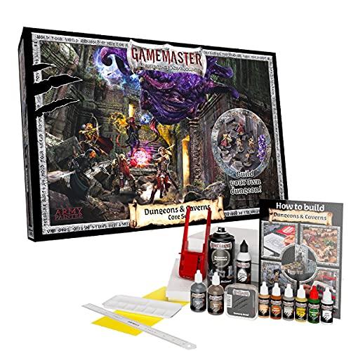The Army Painter | Gamemaster: Dungeons & Caverns Core Set | Juego para principiantes de construcción de mazmorras y terrenos | con herramientas | tablero de espuma y guía para juegos de rol