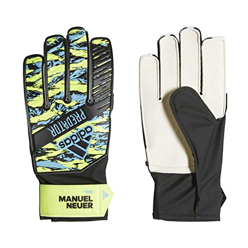 adidas Predator Manuel Neuer Training Junior Guantes de Fútbol, Unisex Niños, Multicolor (Solar Yellow/Bright Cyan/Black), 5