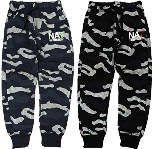 VanessasShop 2-pack jongens camouflage joggingbroek in de maten 116-164