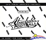 2019 Panini Absolute NFL Football MASSIVE Factory Sealed JUMBO FAT Pack with 240 Cards Including (36) EXCLUSIVE GREEN PARALLELS! Look for RCs & Autos of Kyler Murray, Daniel Jones & More! WOWZZER!