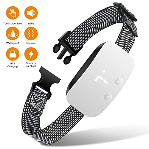 Nest 9 Dog Bark Collar, Rechargeable Anti Barking Training Collar, 7 Adjustable Sensitivity and Intensity Levels for Small Medium Large Dogs