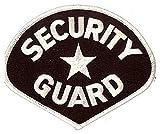 White/Black Security Guard Officer Shoulder Shirt Jacket Uniform Patrol Patch