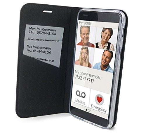 Preisvergleich Produktbild Emporia Handy-Schutzhülle im Book-Case Design mit Visitenkartenfach passend für emporia Smart.2