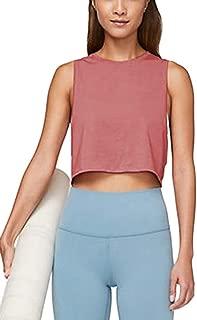 Women's Workout Crop Top Athletic Yoga Shirts Racerback Running Tank Top