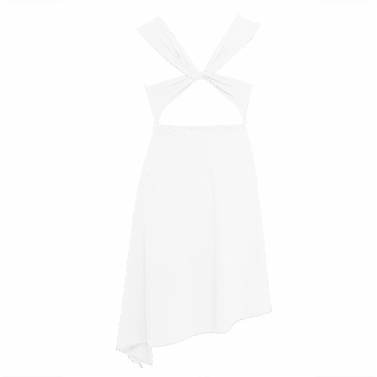 iiniim Girls Lyrical Dance Costume Dress Criss-cross Back Contemporary Ballet Modern Dance Costumes
